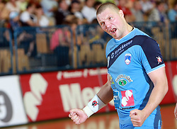 Rok Praznik of Slovenia at  handball game between men national teams of Slovenia and Slovakia, first qualification game for the World Chamionship 2009, on June 7, 2008, in Arena Zlatorog, Celje, Slovenija. Result: 33 : 33. (Photo by Vid Ponikvar / Sportal Images)
