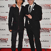 David Dai and Elliot Grove attends the Raindance Opening Gala 2018 held at Vue West End, Leicester Square on September 26, 2018 in London, England.