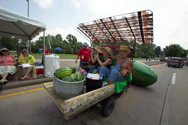 Stock photo of a watermelon car