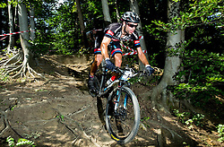 Luka Mezgec during Cross Country XC Mountain bike race for Slovenian National Championship in Kamnik, on July 12, 2015 in Kamnik,  Slovenia. Photo by Vid Ponikvar / Sportida
