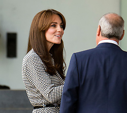 © Licensed to London News Pictures. 17/09/2015. London, UK. CATHERINE, DUCHESS OF CAMBRIDGE arriving at the Anna Freud Centre, a child mental health research, training and treatment charity  in Kings Cross, London. The visit is one of only a hand full of public engagements the Duchess has attended since the birth of Princess Charlotte of Cambridge earlier this year. Photo credit: Ben Cawthra/LNP
