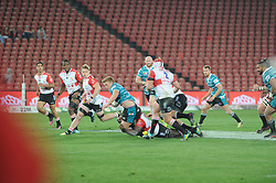 South Africa - Johannesburg, Emirates Airlines Park. 24/08/18  Currie Cup. Lions vs Griquas. Griquas finish the first half strongly with a score of 20-19.<br /> 2nd half.  Picture: Karen Sandison/African News Agency(ANA)