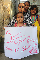 September 6, 2017 - Rawalpindi, Punjab, Pakistan - Civil society and residents of UC 29 protest against  killing of Muslims in Burma at Rawalpindi. (Credit Image: © Zubair Abbasi/Pacific Press via ZUMA Wire)
