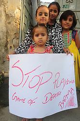 September 6, 2017 - Rawalpindi, Punjab, Pakistan - Civil society and residents of UC 29 protest against  killing of Muslims in Burma at Rawalpindi. (Credit Image: © Zubair Abbasi/Pacific Press via ZUMA Wire)