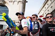 June 10-16, 2019: 24 hours of Le Mans. 8 Sébastien Buemi, Toyota Gazoo Racing, TOYOTA TS050 - HYBRID, 7 Jose Maria Lopez, Toyota Gazoo Racing, TOYOTA TS050 - HYBRID, 7 Mike Conway, Toyota Gazoo Racing, TOYOTA TS050 - HYBRID , driver's parade