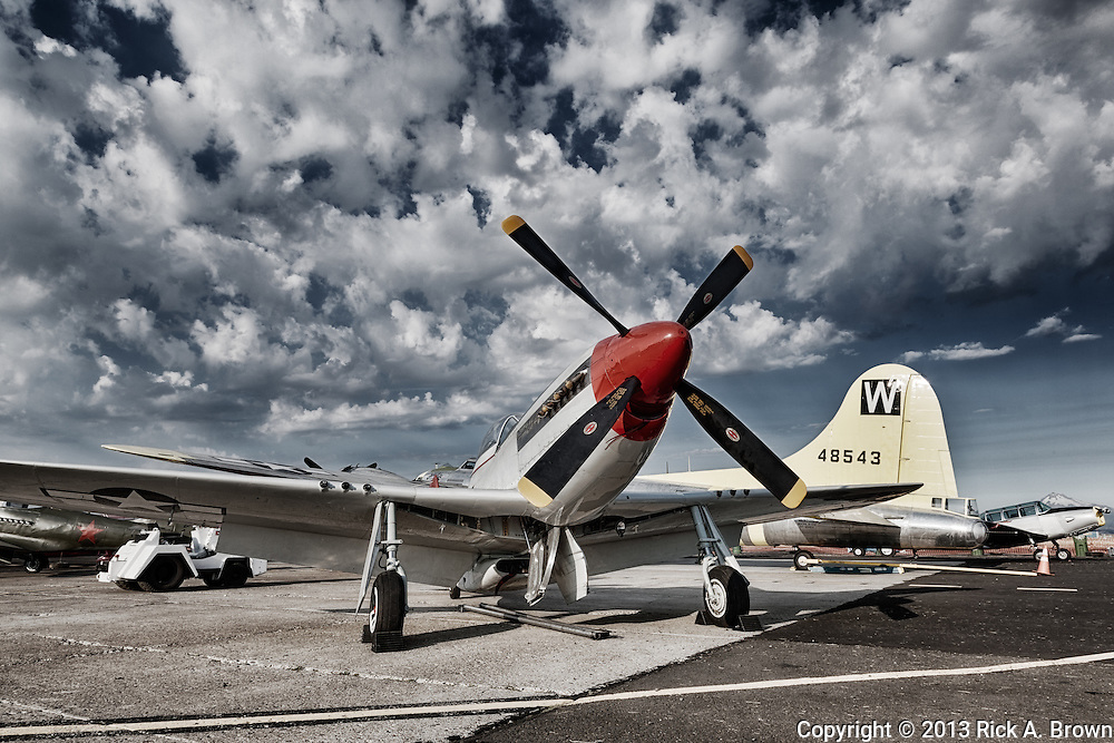 North American P51 Mustang of the Tillamook Air Museum at the Airshow of the Cascades.