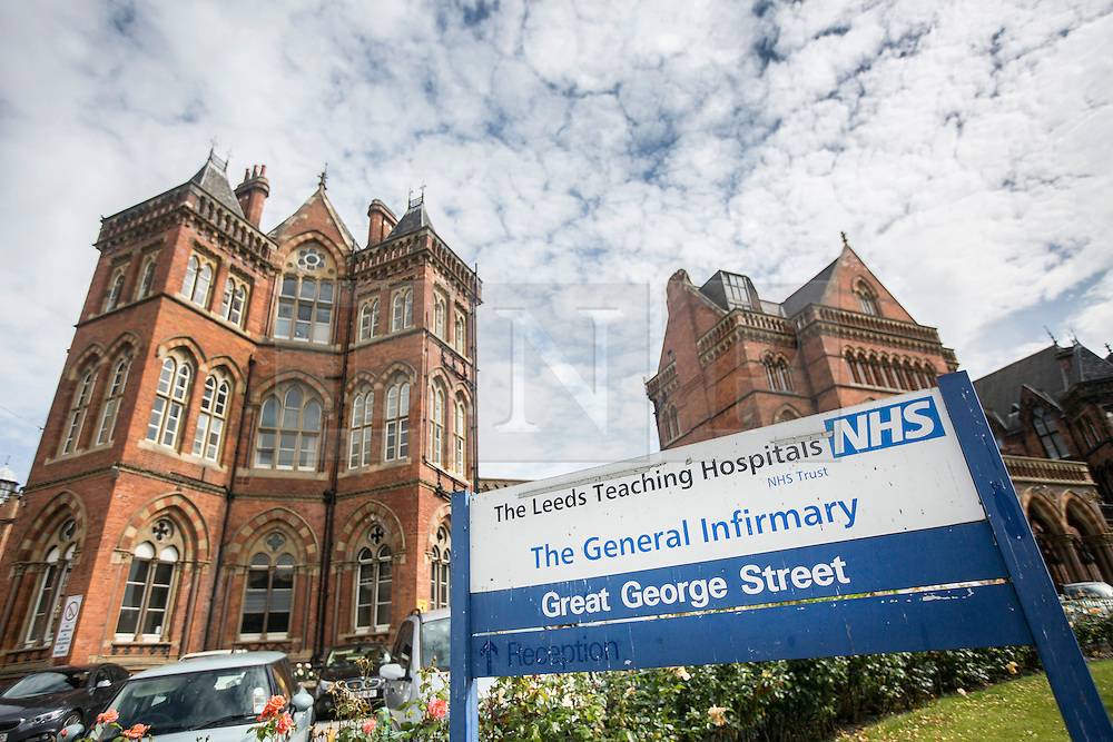 © Licensed to London News Pictures. 07/07/2015. Leeds, UK.Stock photo shows Leeds General Infirmary. A Leeds hospital doctor who was secretly filmed allegedly taking drugs before going on shift has been charged. 52 year old Dr Colin Ferrie is accused of possessing cocaine and GHB and will appear in court later this month.<br /> He has resigned from the Leeds General Infirmary where he was a consultant paediatric neurologist. Photo credit : Andrew McCaren/LNP