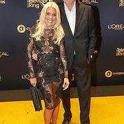NLD/Amsterdam/20151015 - Televiziergala 2015, Judith osborn en partner Bert van der Veer