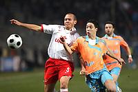 Fotball<br /> Frankrike<br /> Foto: DPPI/Digitalsport<br /> NORWAY ONLY<br /> <br /> FOOTBALL - UEFA CUP 2007/2008 - 1/16 FINAL - OLYMPIQUE MARSEILLE v SPARTAK MOSCOW - 13/02/2008 - SAMIR NASRI (OM) / SANTOS MOZART (SPA)<br /> <br /> Spartak Moskva
