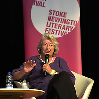 Lynn Barber<br /> On stage at the Stoke Newington Literary Festival. 8 June 2014<br /> <br /> Picture by David X Green/Writer Pictures