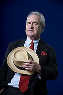 Acclaimed bestselling Irish author John Banville, pictured at the Edinburgh International Book Festival where he talked about his new novel entitled 'Ancient Light'. The three-week event is the world's biggest literary festival and is held during the annual Edinburgh Festival. The 2013 event featured talks and presentations by more than 500 authors from around the world and was the 30th edition of the festival.
