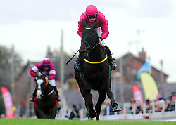 First Approach and jockey Sean Flanagan win the Eventsec Maiden Hurdle during day one of the Down Royal Festival.