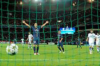 FOOTBALL - UEFA CHAMPIONS LEAGUE 2012/2013 - GROUP STAGE - GROUP A - PARIS SAINT GERMAIN v DYNAMO KIEV - 18/09/2012 - PHOTO JEAN MARIE HERVIO / REGAMEDIA / DPPI - JOY ZLATAN IBRAHIMOVIC (PSG) AFTER HIS GOAL