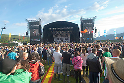 Friday night at the main stage..RockNess 2011, the annual music festival which takes place in Scotland at Clune Farm, Dores, on the banks of Loch Ness near Inverness..Pic ©2011 Michael Schofield. All Rights Reserved..