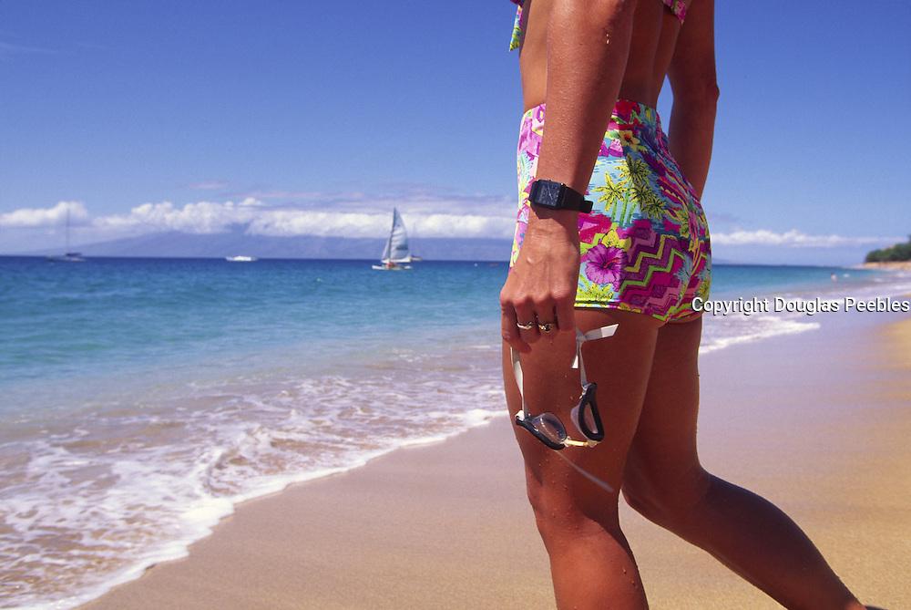Swimming, Kaanapali Beach, Maui, Hawaii<br />