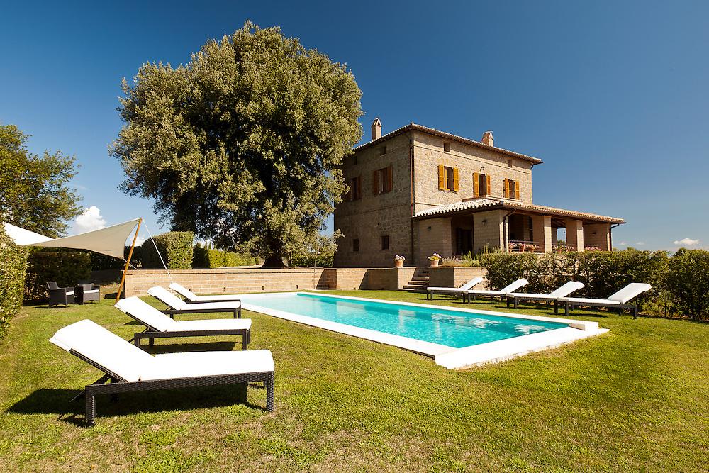 Villa San Donato, Lake Bolsena, Italy. The pool.