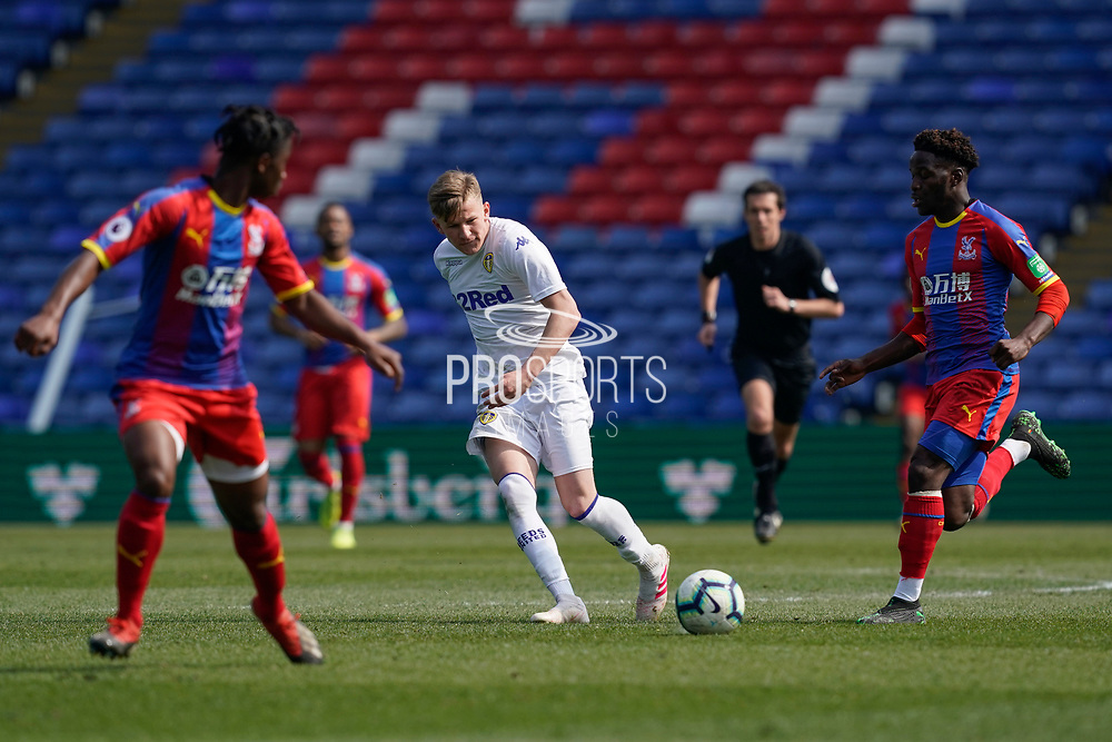 Mateusz Bogusz of Leeds United U23 in action during the U23 Professional Development League match between U23 Crystal Palace and Leeds United at Selhurst Park, London, England on 15 April 2019.
