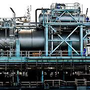 large refinery at docks in Dubai