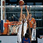 Efes Pilsen's Bostjan NACHBAR (C) during their Turkish Basketball league match Efes Pilsen between Mersin BSB at the Sinan Erdem Arena in Istanbul Turkey on Saturday 19 March 2011. Photo by TURKPIX