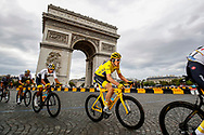 Geraint Thomas (GBR - Team Sky) Yellow Jersey, Arc de Triomphe, during the 105th Tour de France 2018, Stage 21, Houilles - Paris Champs-Elysees (115 km) on July 29th, 2018 - Photo Luca Bettini / BettiniPhoto / ProSportsImages / DPPI