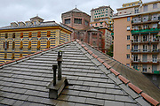 Cityscape of Central Genoa Liguria region Italy