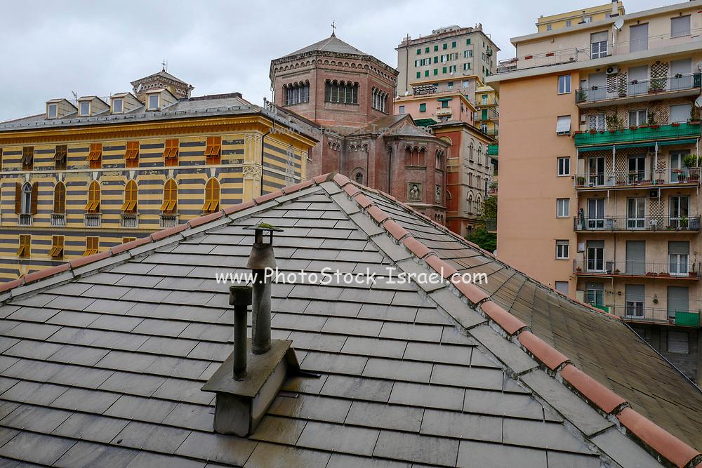 Cityscape of Central Genoa Liguria region Italy