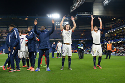 09.03.2016, Stamford Bridge, London, ENG, UEFA CL, FC Chelsea vs Paris Saint Germain, Achtelfinale, Rueckspiel, im Bild david luiz, thiago silva // during the UEFA Champions League Round of 16, 2nd Leg match between FC Chelsea vs Paris Saint Germain at the Stamford Bridge in London, Great Britain on 2016/03/09. EXPA Pictures © 2016, PhotoCredit: EXPA/ Pressesports/ MOUNIC ALAIN<br /> <br /> *****ATTENTION - for AUT, SLO, CRO, SRB, BIH, MAZ, POL only*****
