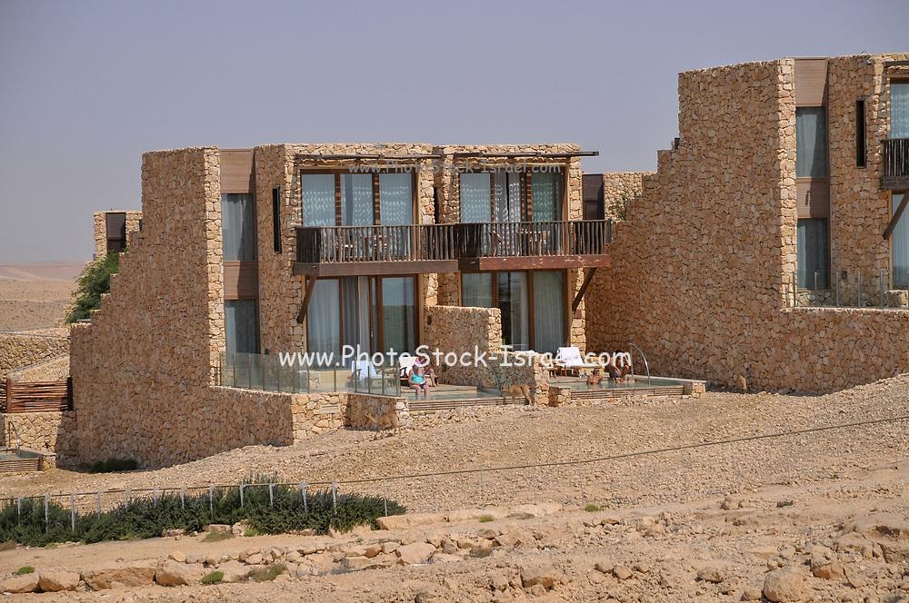 Israel, Negev, Beresheet (Genesis) Isrotel hotel on the cliff of the Ramon Crater,
