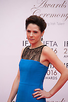 Actress Elaine Cassidy at the IFTA Film & Drama Awards (The Irish Film & Television Academy) at the Mansion House in Dublin, Ireland, Saturday 9th April 2016. Photographer: Doreen Kennedy