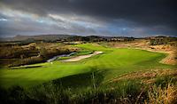 GLENEAGLES SCHOTLAND - Hole 9 van PGA Centenary Course  van Gleneagles.  Er zijn drie golfbanen van Gleneagles. De Queen's Corse, King's  Corse en de belangrijkste is de PGA Centenary Course. Op de PGA course wordt in 2014 de Ryder Cup gespeeld. COPYRIGHT KOEN SUYK