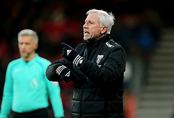"""West Bromwich Albion manager Alan Pardew gestures on the touchline during the Premier League match at the Vitality Stadium, Bournemouth. PRESS ASSOCIATION Photo. Picture date: Saturday March 17, 2018. See PA story SOCCER Bournemouth. Photo credit should read: Mark Kerton/PA Wire. RESTRICTIONS: EDITORIAL USE ONLY No use with unauthorised audio, video, data, fixture lists, club/league logos or """"live"""" services. Online in-match use limited to 75 images, no video emulation. No use in betting, games or single club/league/player publications."""