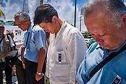 14 SEPTEMBER 2003 - CANCUN, QUINTANA ROO, MEXICO:  South Korean protesters and friends of Lee Kyung-hae during a memorial service for Lee Kyung-hae, the South Korean farmer who committed suicided during a protest against liberalized agricultural trade at the WTO ministerial in Cancun. Tens of thousands of protesters, mostly farmers, came to Cancun for the fifth ministerial of the World Trade Organization (WTO). They were protesting against developed nations pushing to get access to agricultural markets in developing nations. The talks ultimately collapsed after no progress with no agreements reached between the participants.          PHOTO BY JACK KURTZ