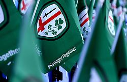 London Irish flags are left on seats for fans ahead of the Greene King IPA Championship Final 2nd Leg - Mandatory by-line: Robbie Stephenson/JMP - 24/05/2017 - RUGBY - Madejski Stadium - Reading, England - London Irish v Yorkshire Carnegie - Greene King IPA Championship Final 2nd Leg