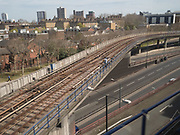London view from train, 17 April 2018