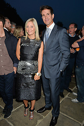 CROWN PRINCE PAVLOS & PRINCESS MARIE-CHANTAL OF GREECE at a party hosed by the US Ambassador to the UK Matthew Barzun, his wife Brooke Barzun and editor of UK Vogue Alexandra Shulman in association with J Crew to celebrate London Fashion Week held at Winfield House, Regent's Park, London on 16th September 2014.