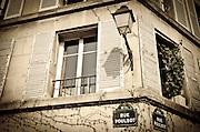Street lamp and corner in Montmartre, Paris, France