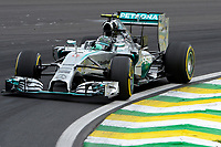ROSBERG NICO (GER) - MERCEDES GP MGP W05 - ACTION during the 2014 Formula One World Championship, Brazil Grand Prix from November 6th to 9th 2014 in Sao Paulo, Brazil. Photo Eric Vargiolu / DPPI.