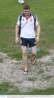 3 July 2013; Brian O'Driscoll, British & Irish Lions, arrives for squad training ahead of their 3rd test match against Australia on Saturday. British & Irish Lions Tour 2013, Squad Training. Noosa Dolphins RFC, Dolphin Oval, Sunshine Beach, Queensland, Australia. Picture credit: Stephen McCarthy / SPORTSFILE