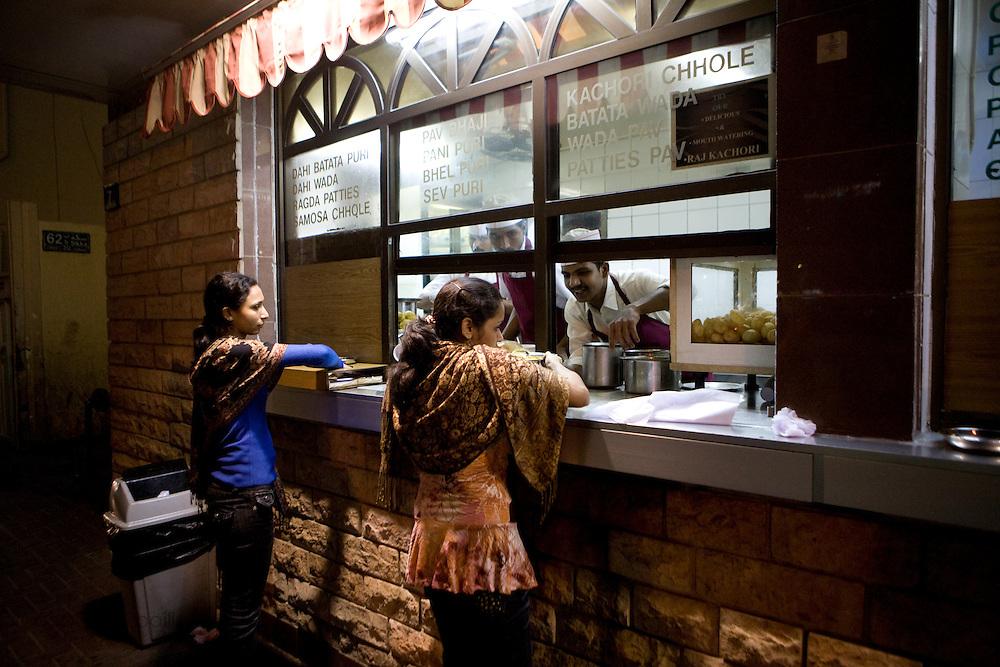 Dubai, United Arab Emirates (UAE). January 29th 2009..An Indian restaurant in Bastikia.