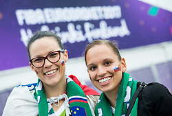 Supporters of Slovenia ahead to the basketball match between National Teams of Finland and Slovenia at Day 3 of the FIBA EuroBasket 2017 at Hartwall Arena in Helsinki, Finland on September 2, 2017. Photo by Vid Ponikvar / Sportida