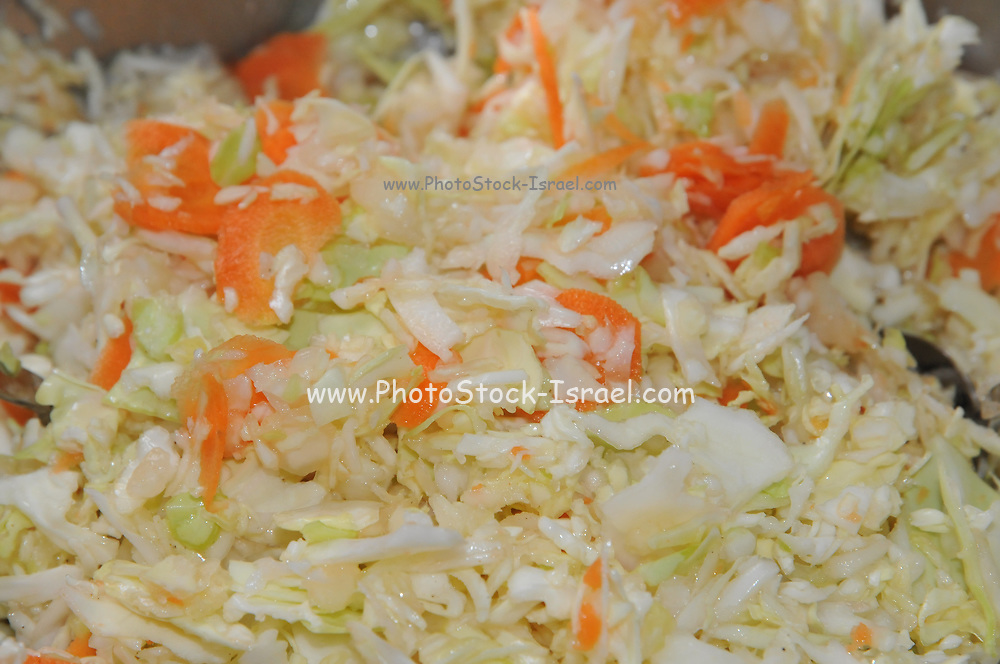 Homemade cabbage and carrots stew