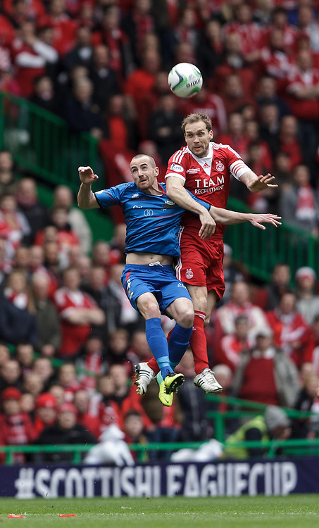Scottish League Cup Final Aberdeen V Inverness CT at Parkhead on Sunday, 16th of March 2014, Aberdeen Scotland.<br /> Pictured: David Raven and Russell Anderson<br /> (Photo Ross Johnston/Newsline Scotland)
