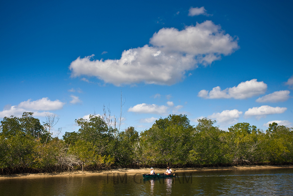 Tourists on vacation at Ten Thousand Islands in Florida Everglades, USA