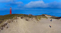 """SCHIERMONNIKOOG - Vuurtoren 'De Noordertoren""""  met de duinen. , ANP COPYRIGHT KOEN SUYK"""