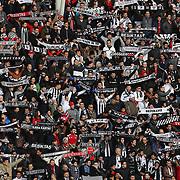 Besiktas's supporters during their Turkish superleague soccer match Besiktas between Suat Altin Insaat Kayseri Erciyesspor at Osmanli Stadium in Ankara Turkey on Sunday 15 March 2015. Photo by Aykut AKICI/TURKPIX