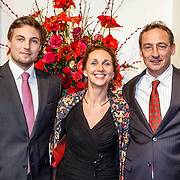 NLD/Amsterdam/20160206 - Premiere balletvorstelling Mata Hari, tandarts Danielle Schilham, partner Wouter en zoon Olivier