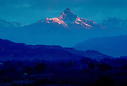 Fish Tail Mountain - Machhapuchhare - in the Himalayas Mountains, Nepal at dawn.