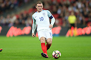 Wayne Rooney, the England captain in action. FIFA World cup qualifying match, european group F, England v Malta at Wembley Stadium in London on Saturday 8th October 2016.<br /> pic by John Patrick Fletcher, Andrew Orchard sports photography.