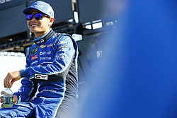 July 13, 2018 - Sparta, Kentucky, United States of America - Kyle Larson (42) hangs out on pit road before qualifying for the Quaker State 400 at Kentucky Speedway in Sparta, Kentucky. (Credit Image: © Chris Owens Asp Inc/ASP via ZUMA Wire)