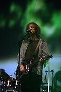 19th April 2009. Indio, California. Musician Kevin Shields of My Bloody Valentine, on stage at the Coachella Music Festival..PHOTO © JOHN CHAPPLE / REBEL IMAGES.tel +1 310 570 9100    john@chapple.biz